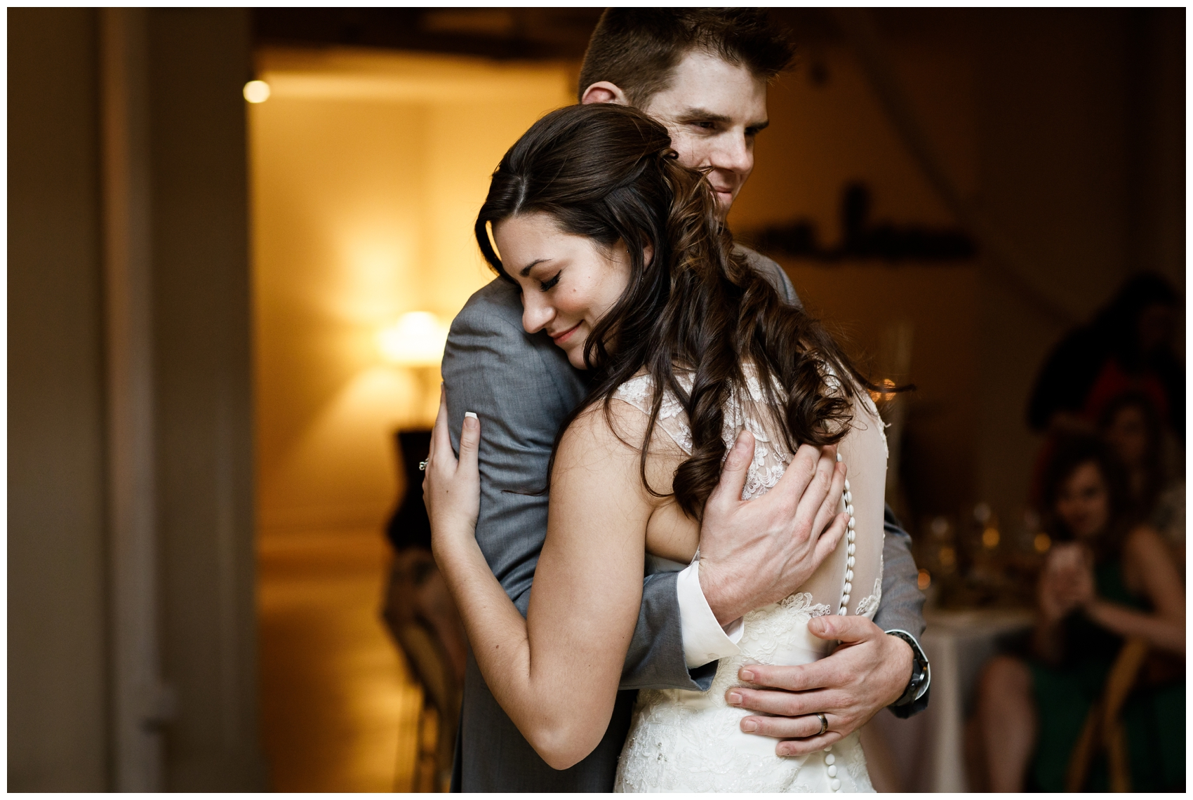 first dance during wedding reception at Chicago's Greenhouse Loft