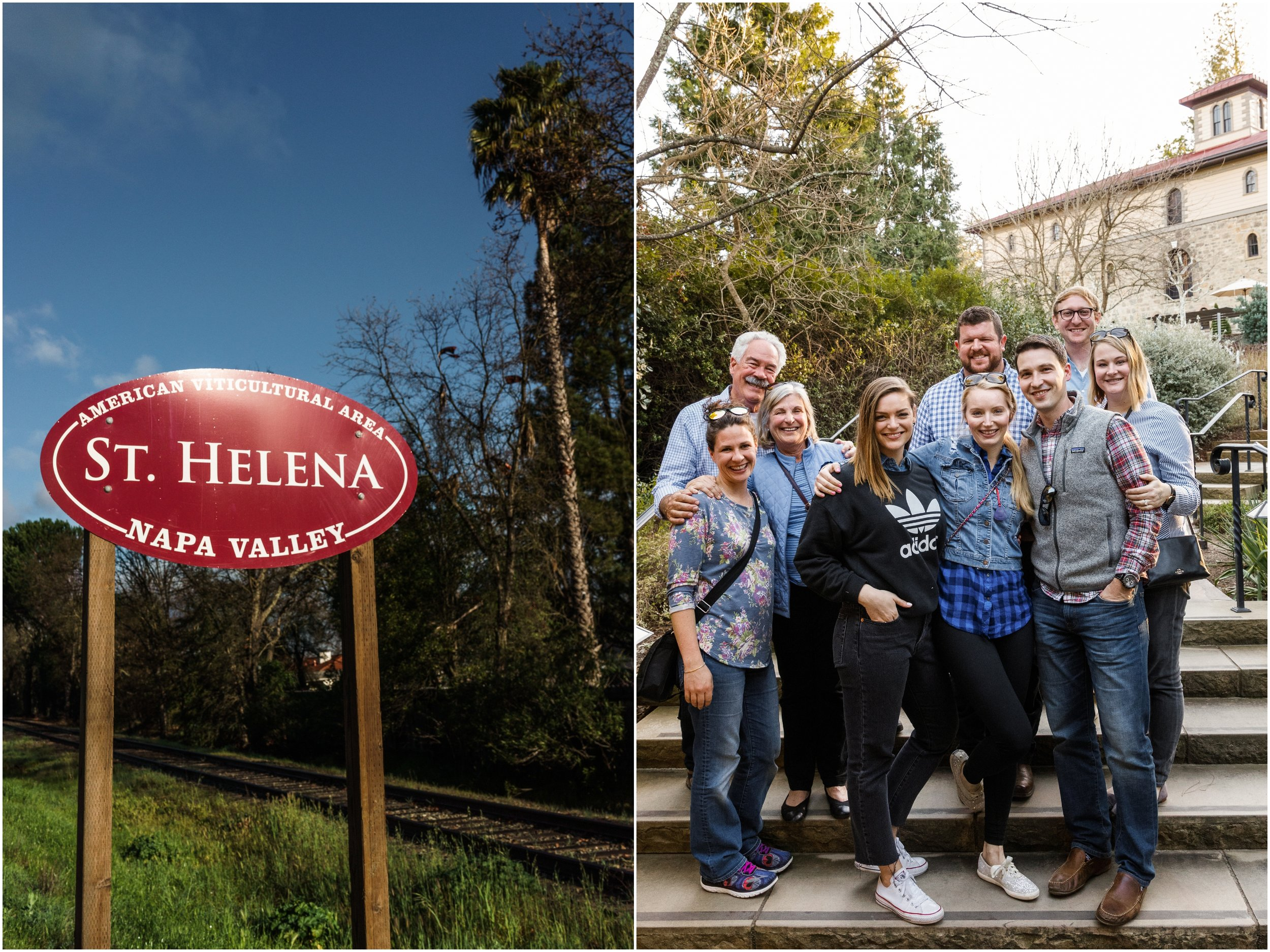 highway sign for St. Helena in Napa Valley