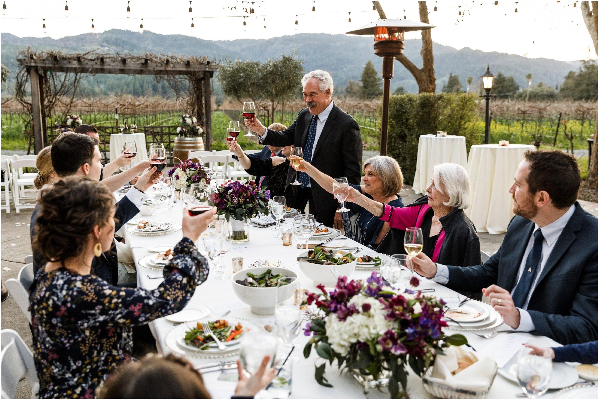 father of groom giving wedding toast