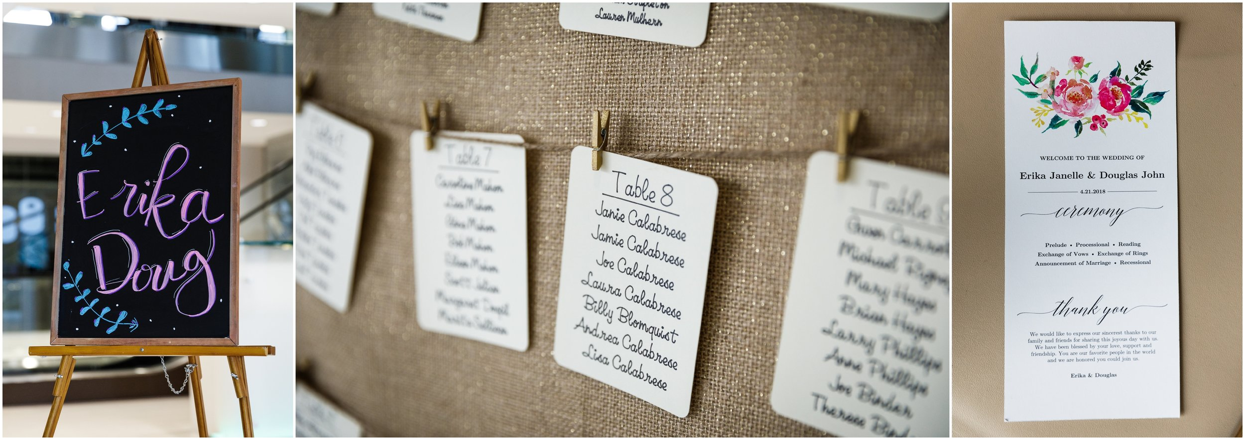 ceremony sign at Greenhouse Loft in Chicago