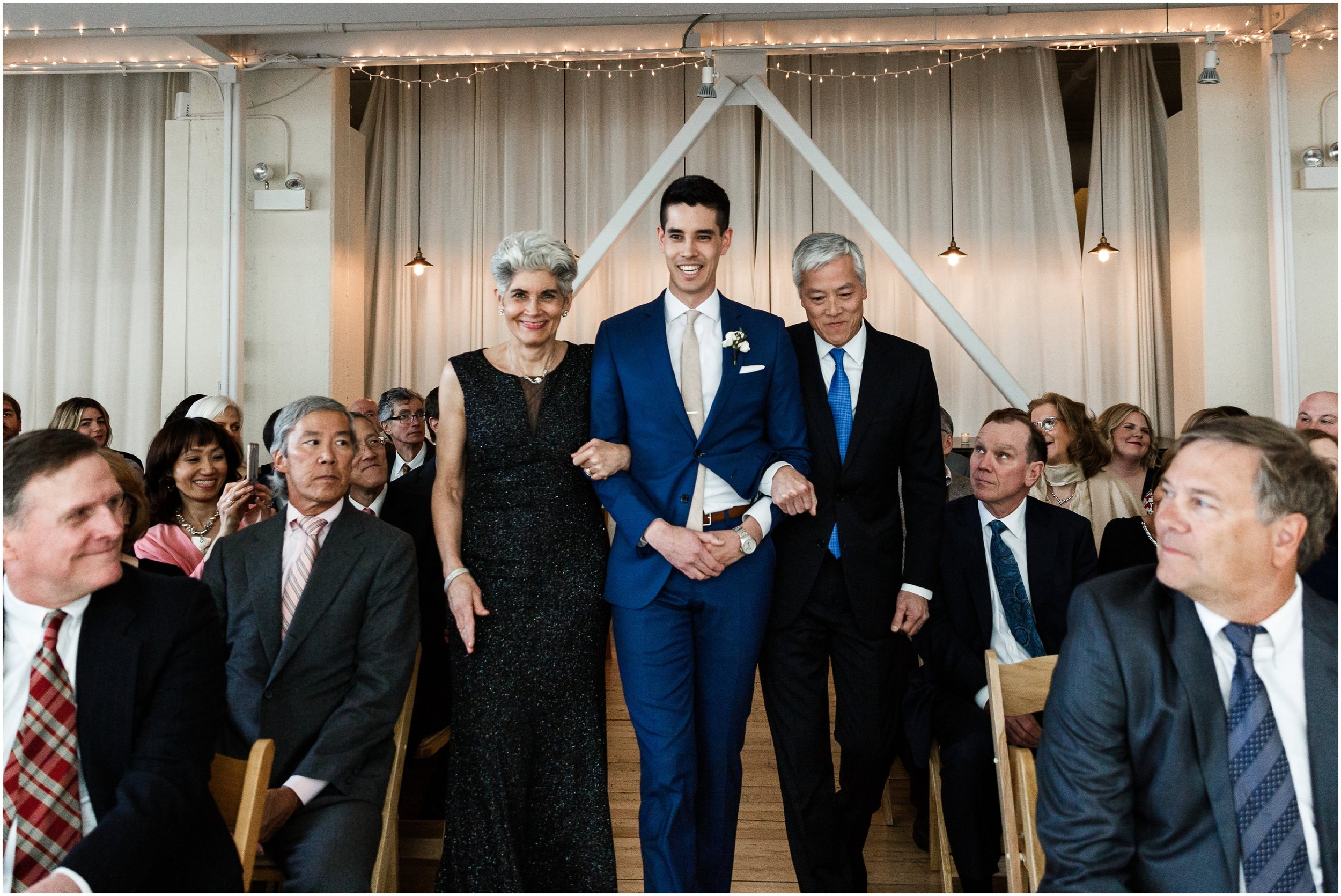 wedding ceremony at Greenhouse Loft in Chicago