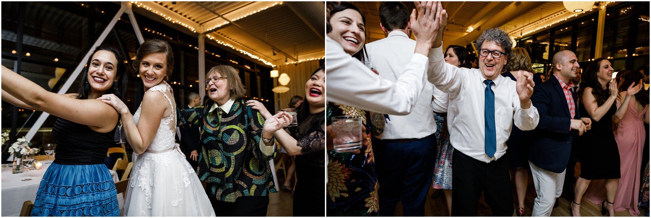 bride dancing during wedding reception