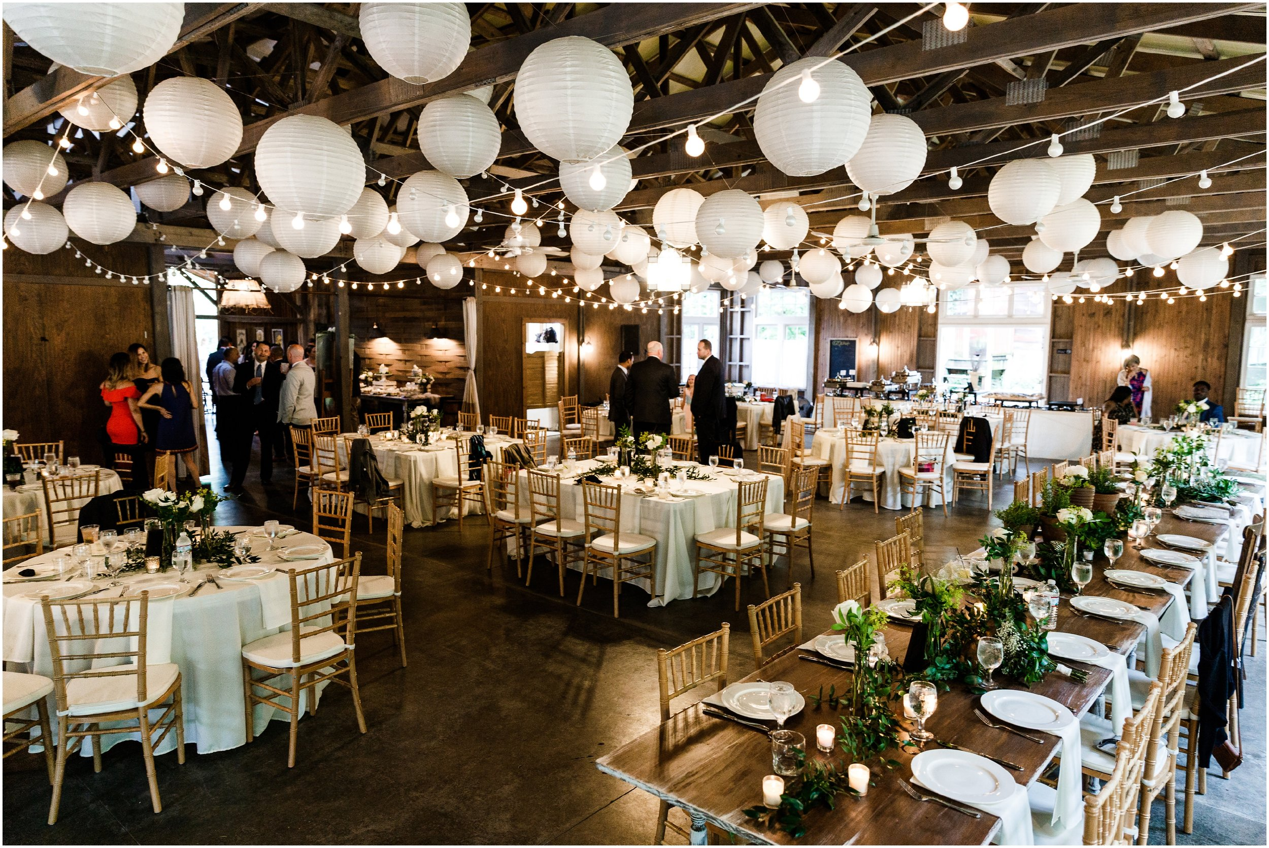 barn wedding reception room