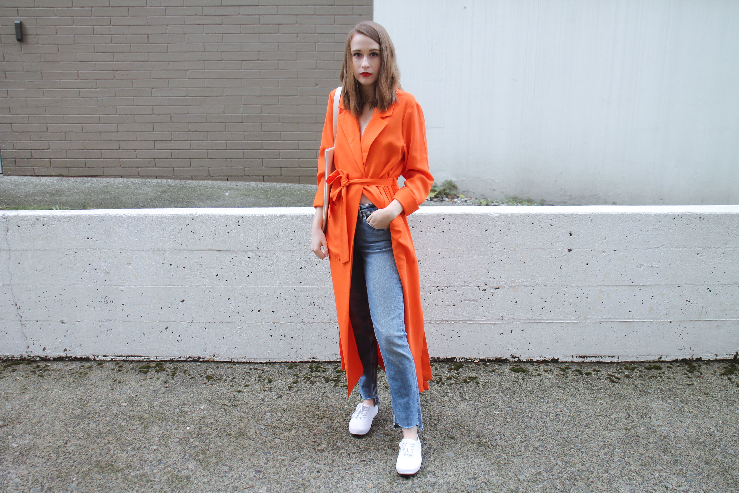 The Weave by Pamela Churchill Orange Asos Kimono