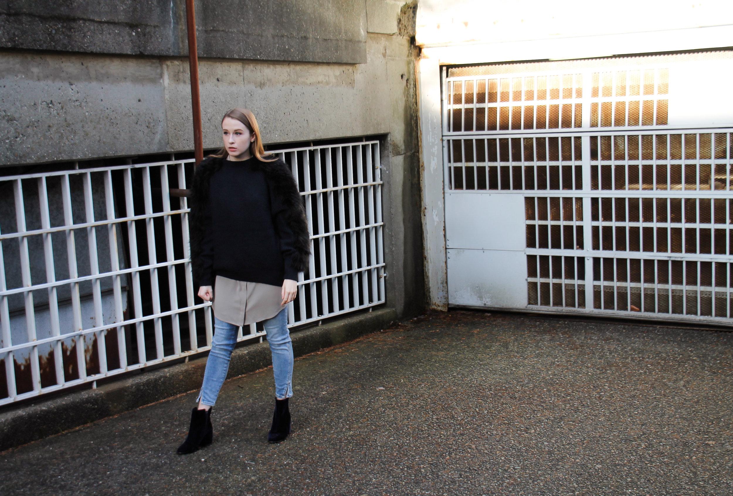 The Weave by Pamela Churchill H&M faux fur sweater