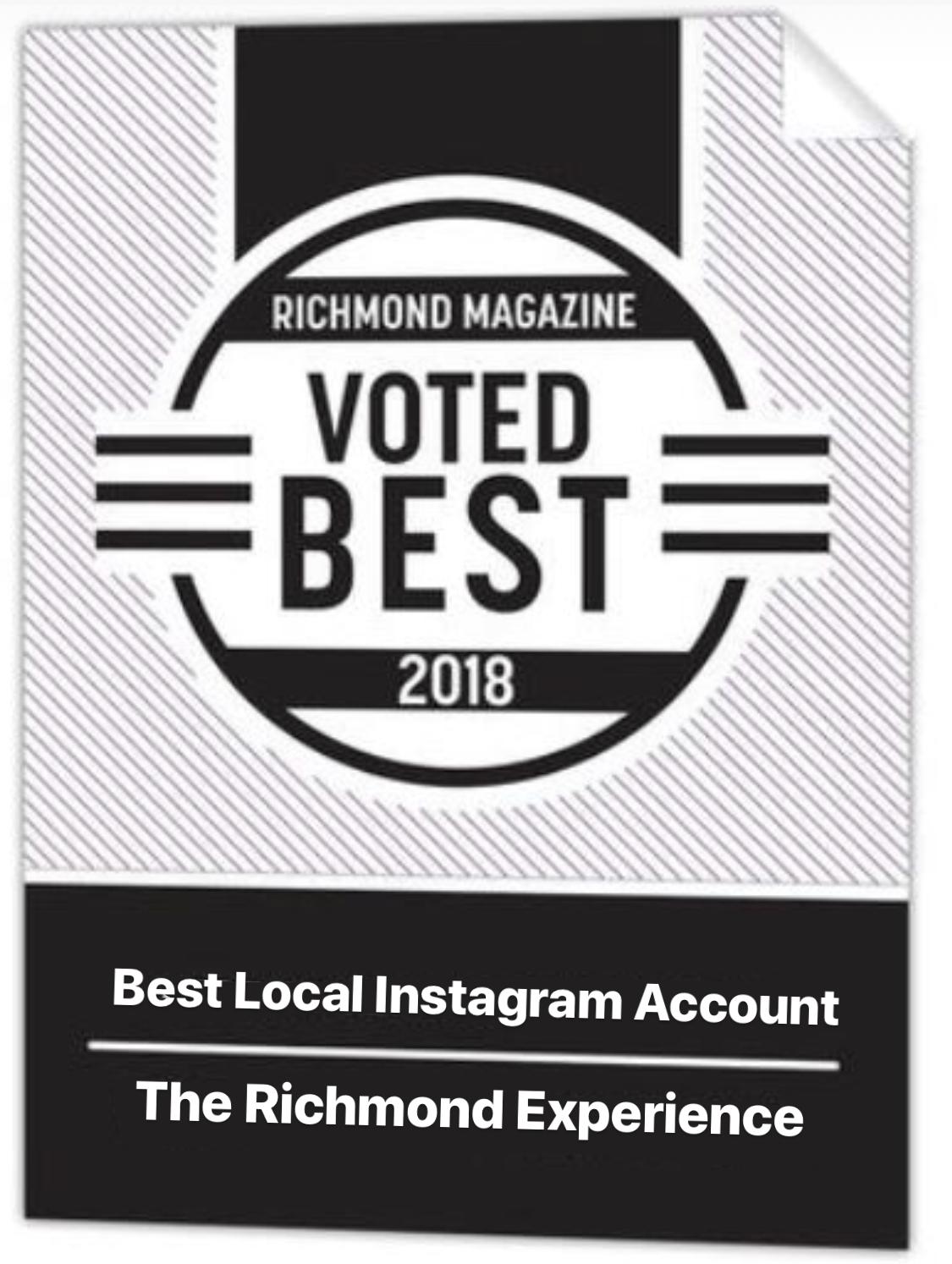 Voted Best Local Instagram by the readers of Richmond Magazine - Richmond Magazine