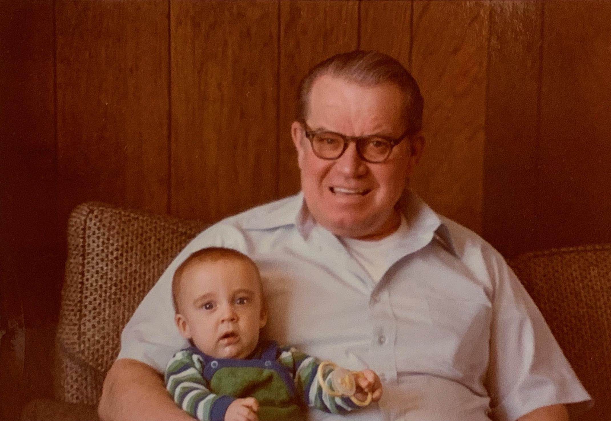 Me and Grandpa circa 1979