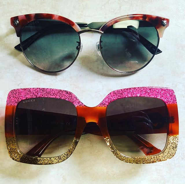 Battle of the Pinks. Which is better too or bottom? #battleofpinks #massengaleeyecare #guccisunglasses