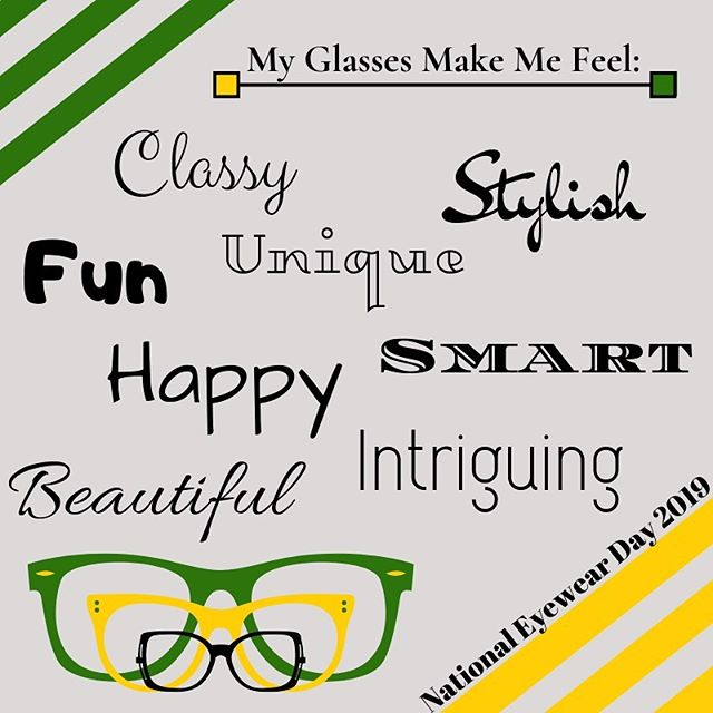 Happy National Eyewear Day!!! #massengaleeyecare #eyewear #optical #nationaleyewearday #glasses #okc #mooreok