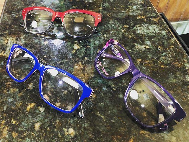 Which is better?  #red #lambeyewear #blue #guccieyewear #purple #betseyjohnsoneyewear