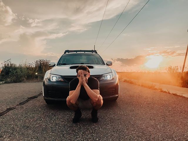 Said I'd sign up to be Instagram girlfriend. But he doesn't post anything. So, I'll post him instead 😊🥰 @ethngill . . . . . #subae #subaru #wrxsti #bozeman #boyfriend #whatshedoing #sunsetmagic #subaeru #carguy #cobb #ihavenoideawhatanyofitmeans #butiknowthewords #askhim #turbo