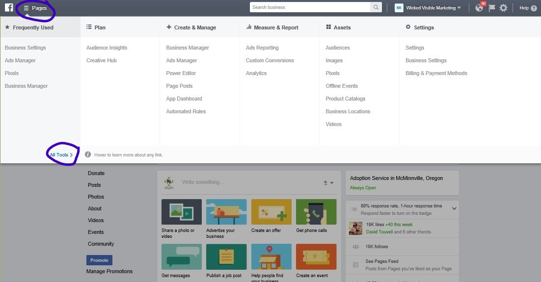 FB Business Manager Features List