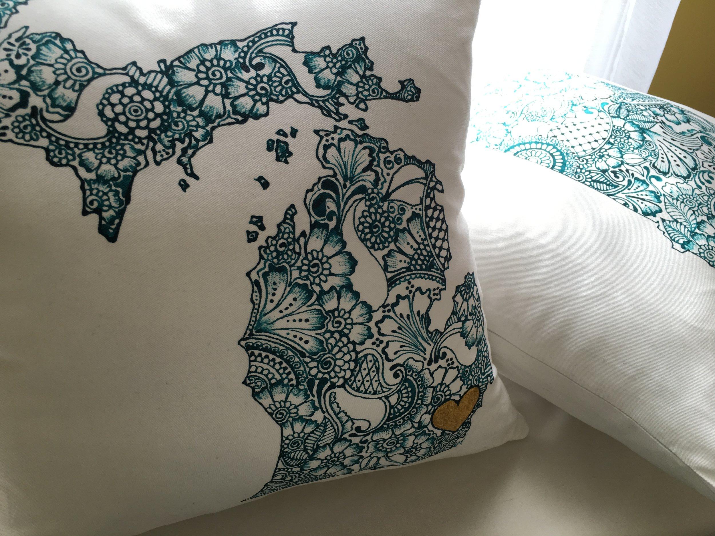STATEment pillows.