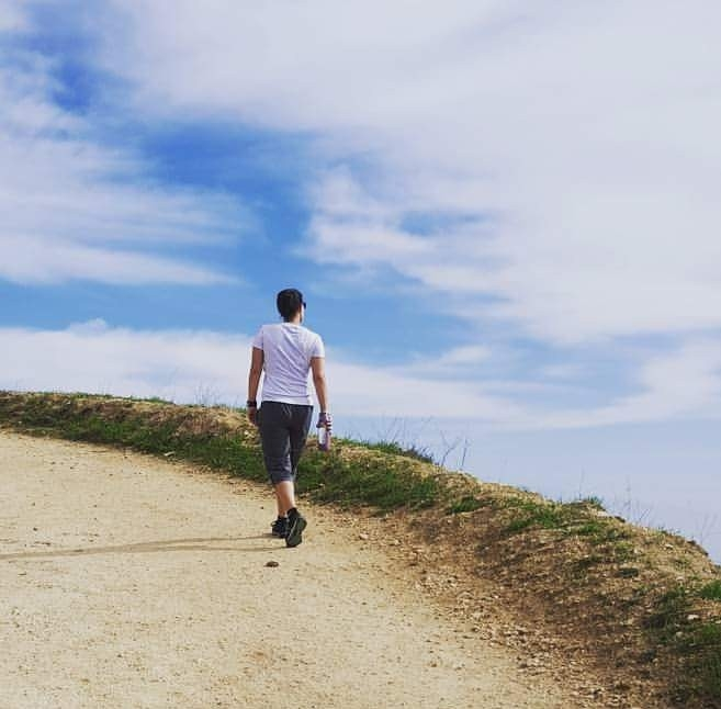 Me engaging in some self-care: Hiking & enjoying nature :)