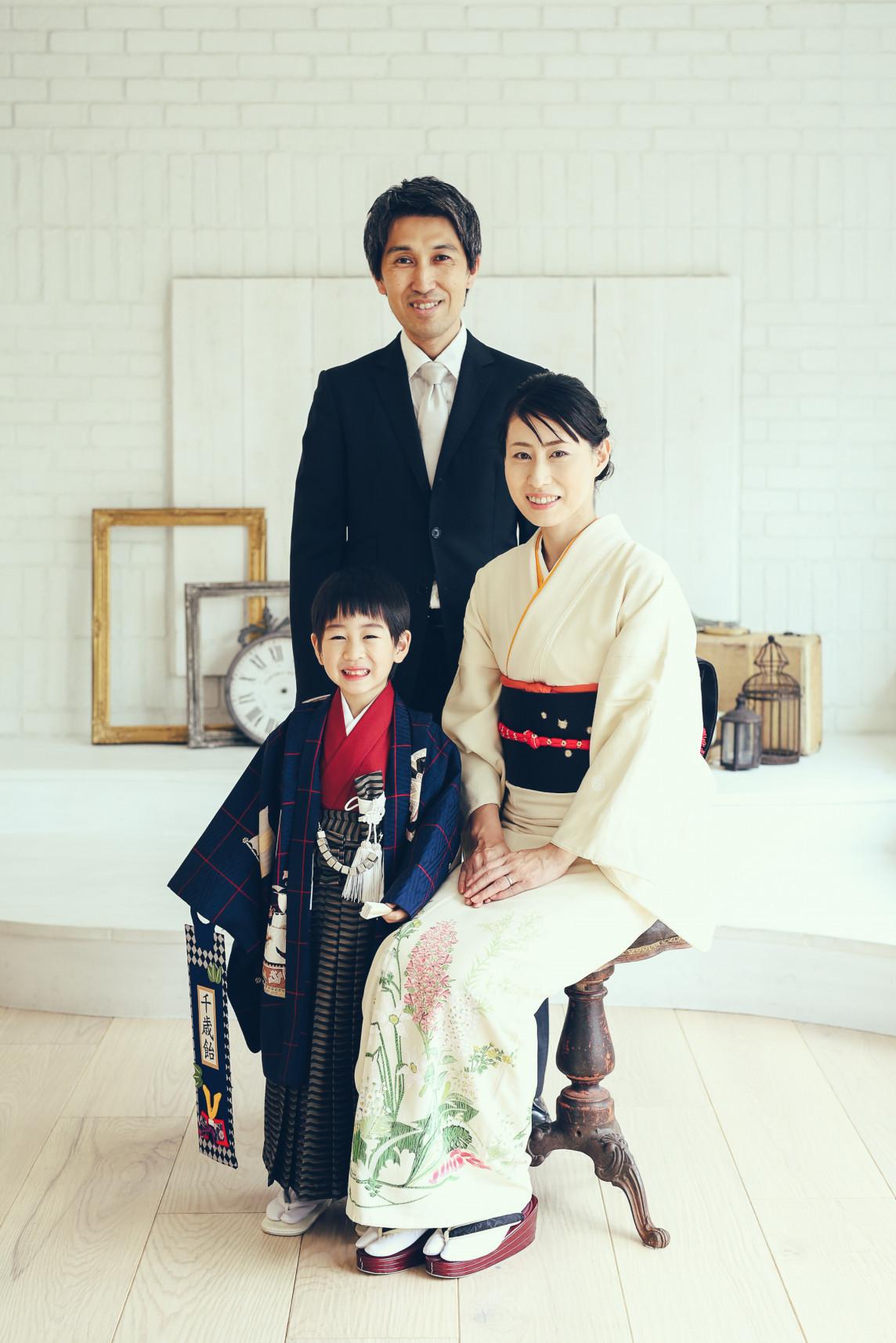 七五三の親の服装-スーツと訪問着