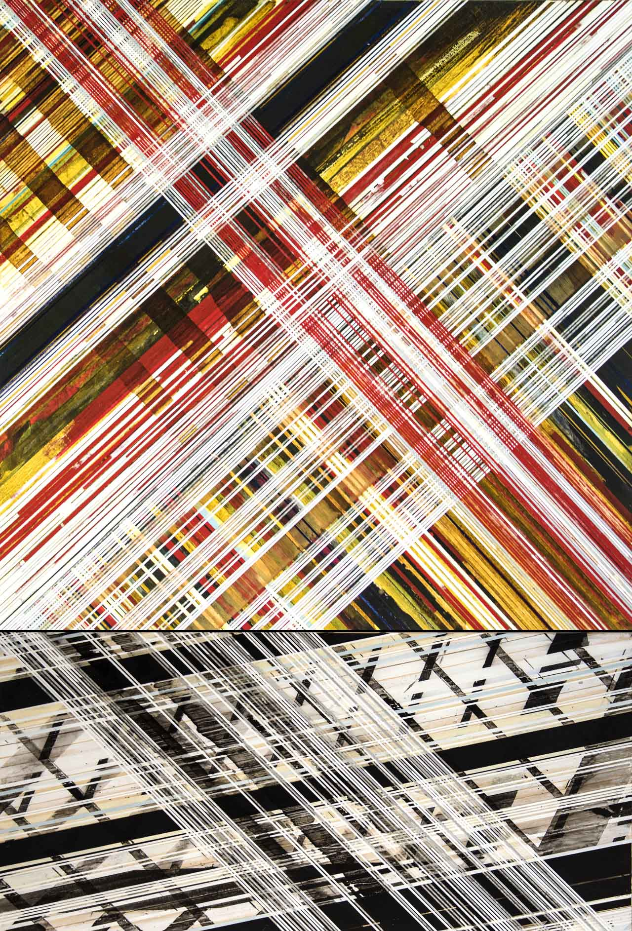 """painted pepper-sunlight (weaving) / 2015 / 62""""h x 42""""w / Title from: Jane's Addiction"""