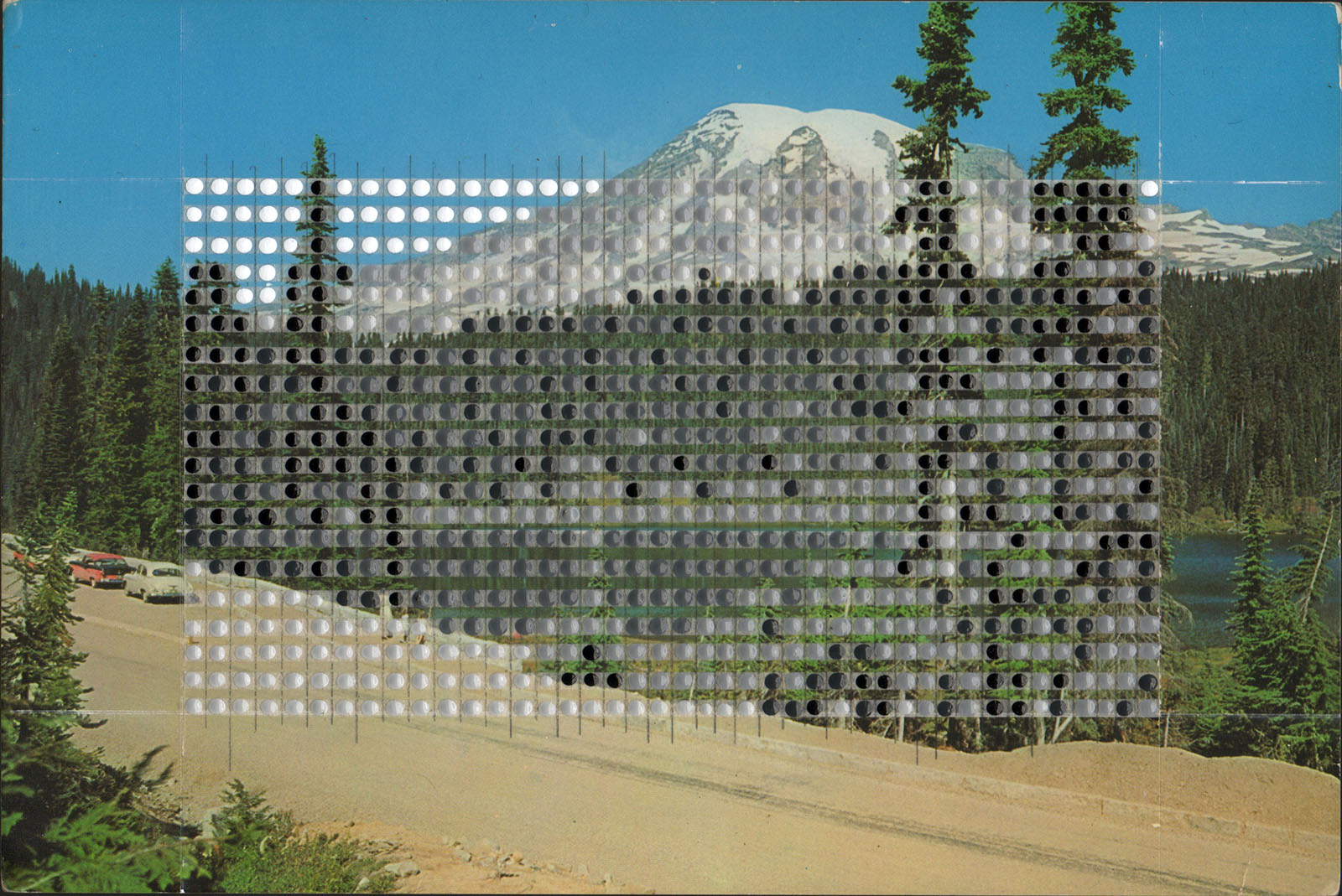 Borrowed Landscapes Study No. 158/ WA, Mount Rainier and Stevens Canyon Road at Reflection Lake / Private collection