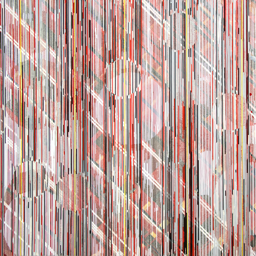 "when the last sun hung on the hills 1 (weaving) / 2015 / 42""h x 42""w / Title: from Lawrence Ferlinghetti"