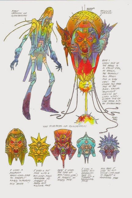 Floro Dery's original and final Quintesson design.