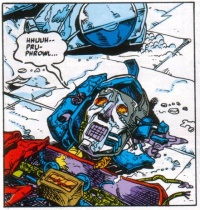 """Marvel Comics issue #75 """"On the Edge of Extinction.""""  Optimus is bathed in Matrix energy so his death is long and suffering. Those books are gruesome, man."""