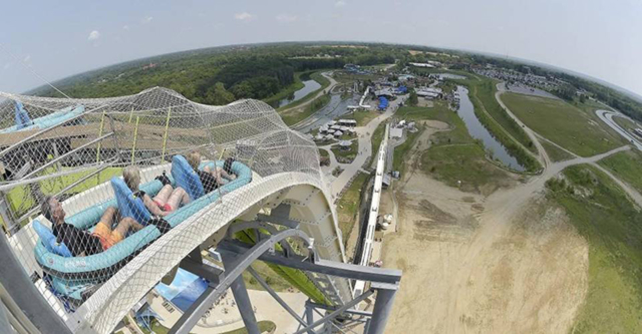 The FORMER Verruckt Water Slide in KC, Missouri.