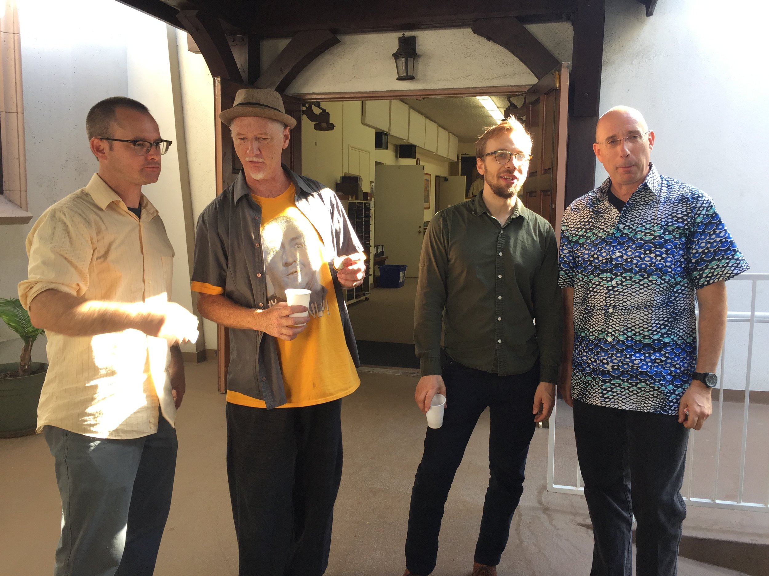 Brad Dutz 4tet - Founded in 2005, this whimsical ensemble has released six albums and performed at numerous Southern California venues. The ensemble features Dutz on percussion, Paul Sherman on oboe/english horn, Brian Walsh on bass clarinet, and Chris Votek on cello.[Read More]…