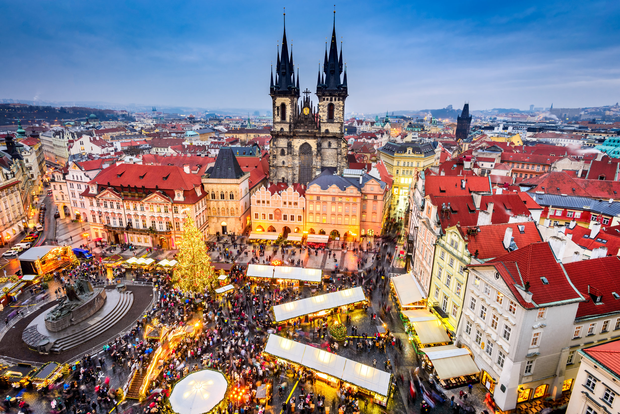 Prague Old Town Square during Prague Christmas market