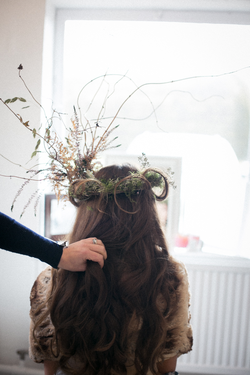 and hair - with my floral crown   Image by Nick Ilott