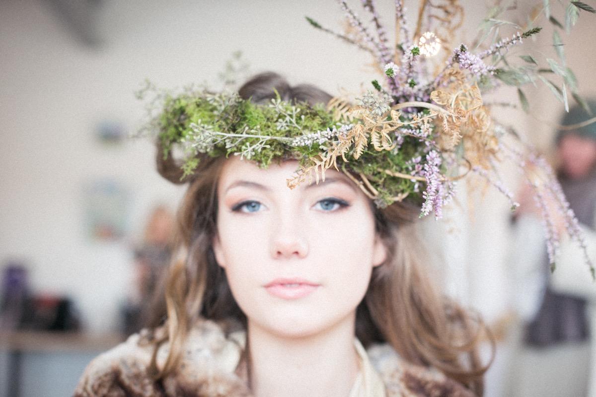 gorgeous Hattie my woodland floral crown creation   Image by Nick Ilott