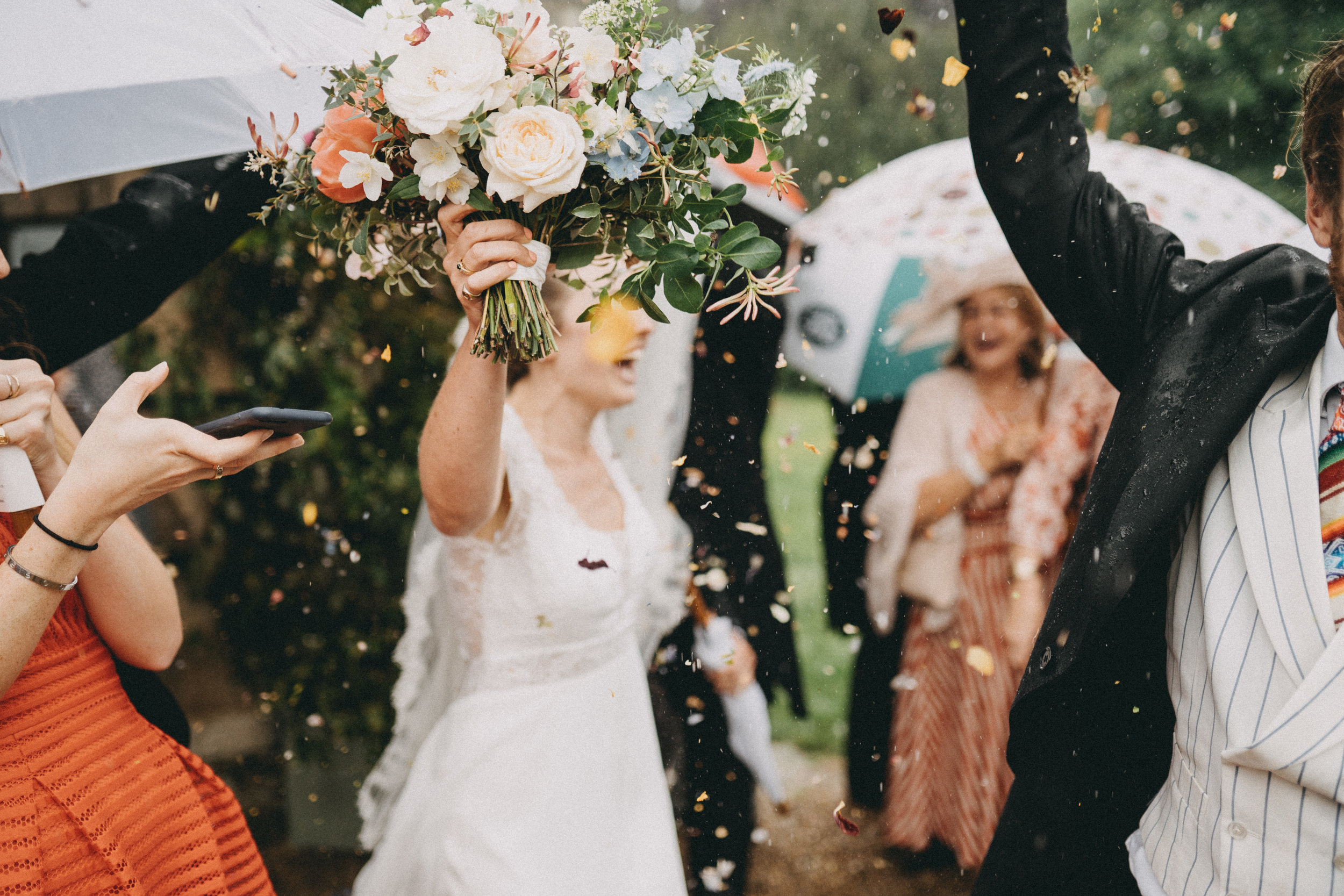 It didn't dampen their spirits - they just went for it!!  Image - Ali Paul Photographer