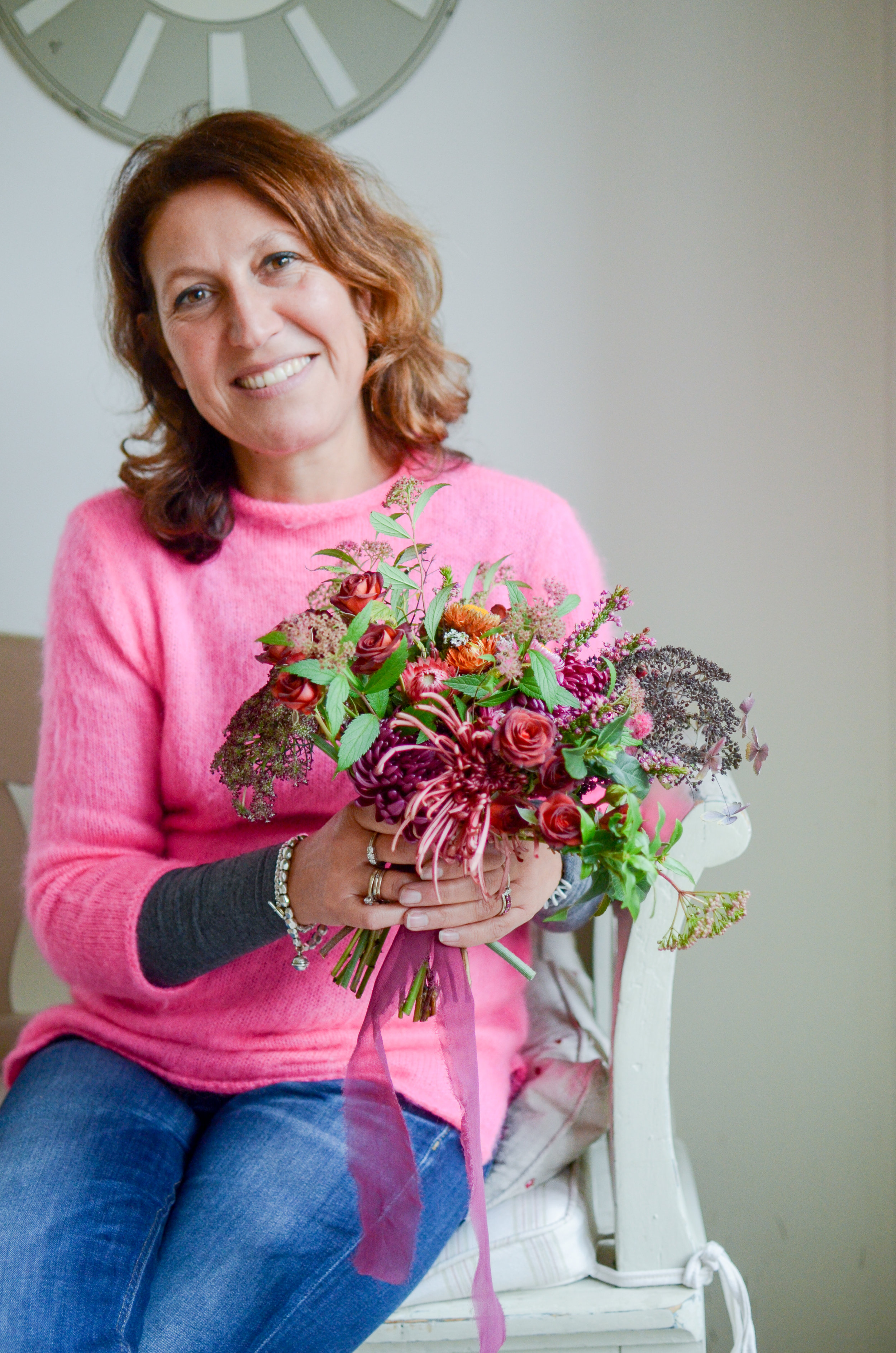 Florals - Flavia at a Moss & Stone 1:2 Class | Image - Brigitte Girling