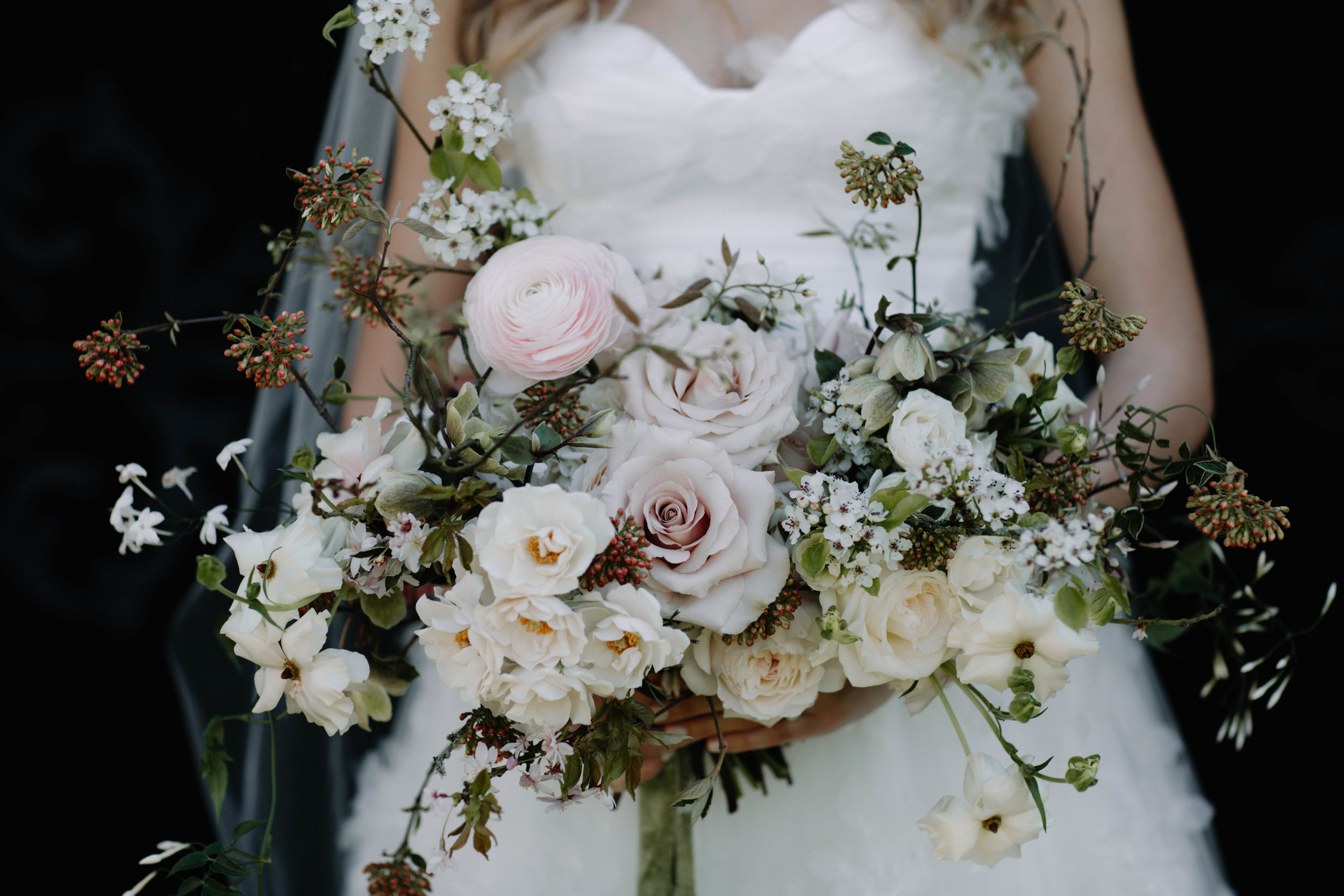 Florals  - Moss & Stone Floral Design | Rebecca Goddard Photography Coco  Kat Holywell Hall-150.jpg