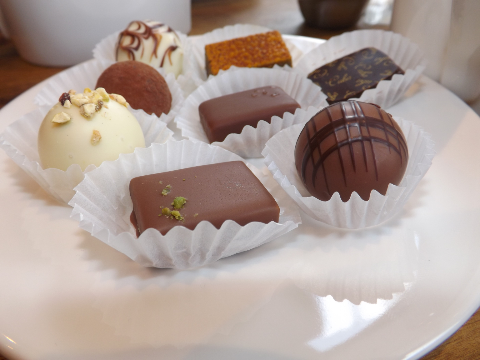 A few of our favourites, including a dark chocolate rum ganache.