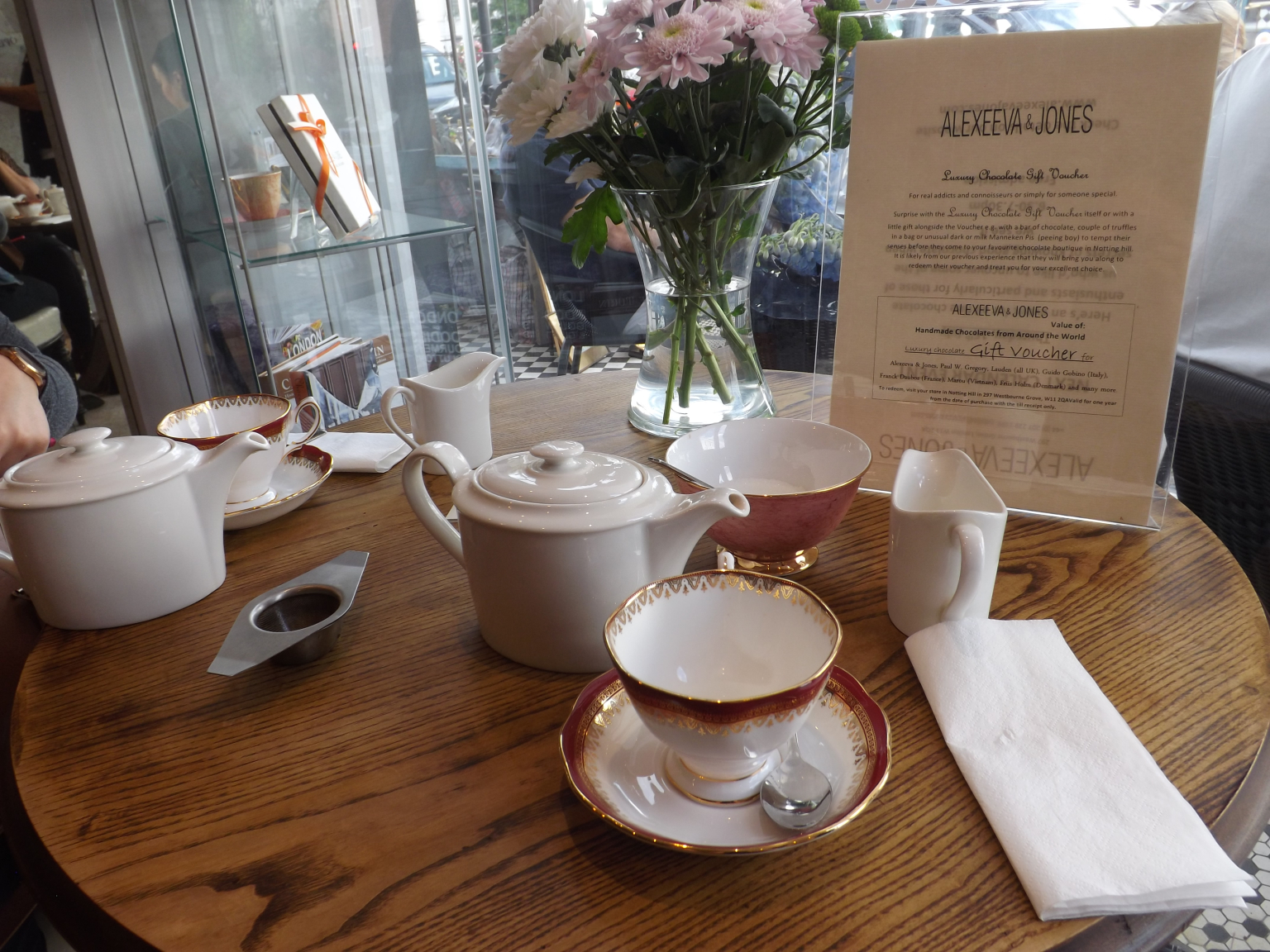 We had the chocolate afternoon tea experience which I highly recommend.