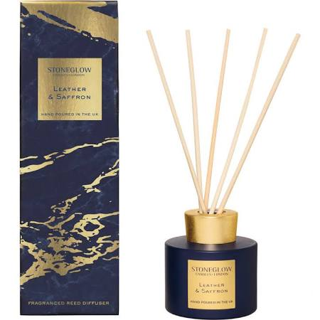 Stoneglow Luna Collection Leather and Saffron Reed Diffuser | £19