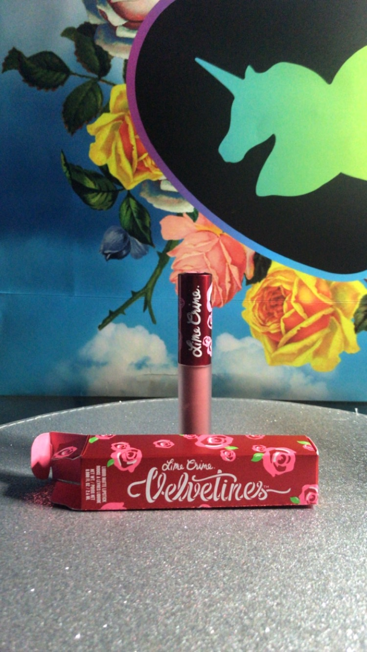 The Limecrime velvetine lipstick in shade SASHA that I bought on the day.