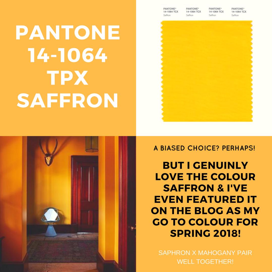 SAFFRON INTERIORS- PANTONE