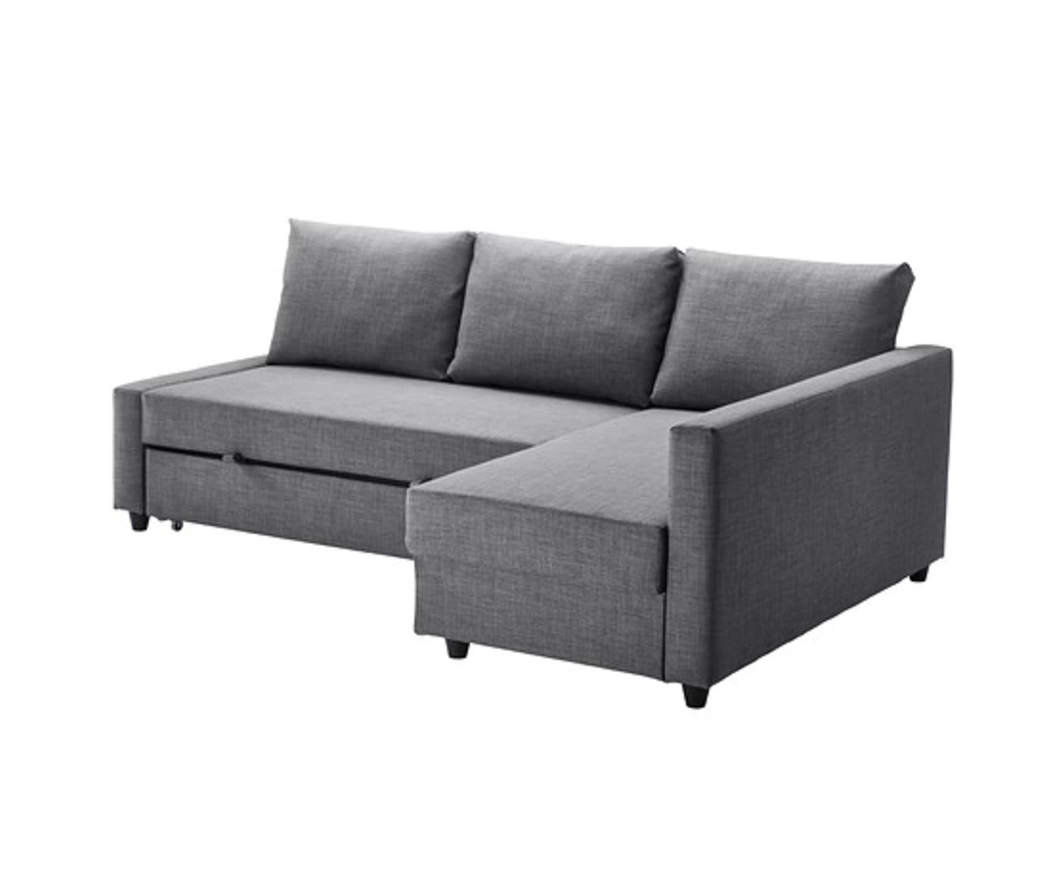 Corner sofa-bed with storage FRIHETEN Skiftebo dark grey £429