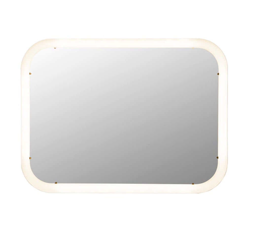 Mirror with integrated lighting STORJORM White £85