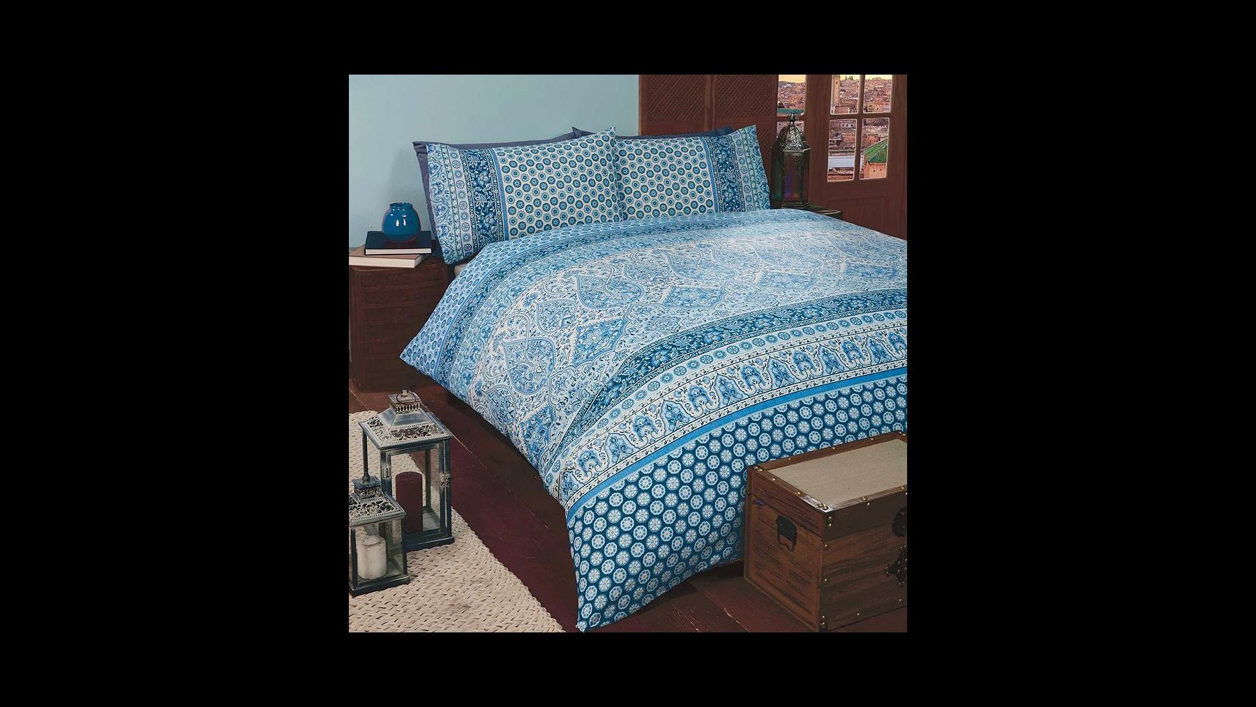 Rapport Marrakesh Blue Duvet Cover Set - Double