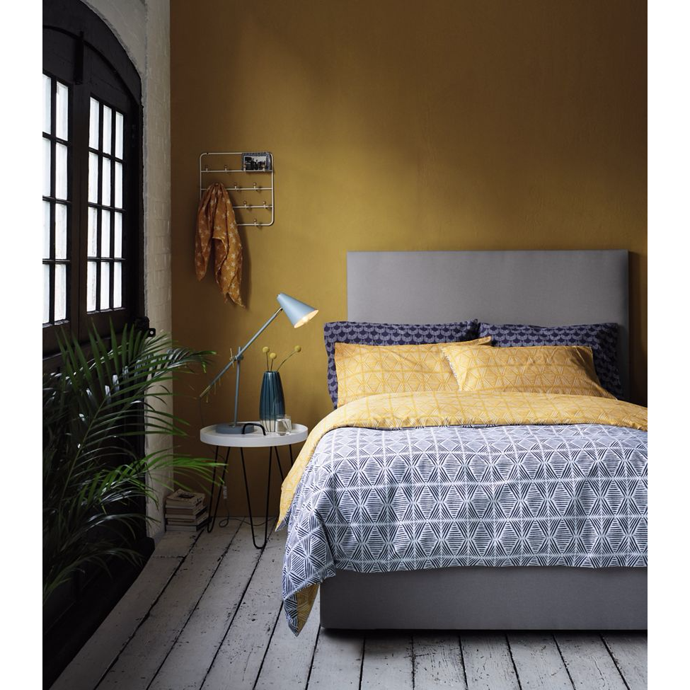 Home Collection - Blue 'Stamp' bedding set