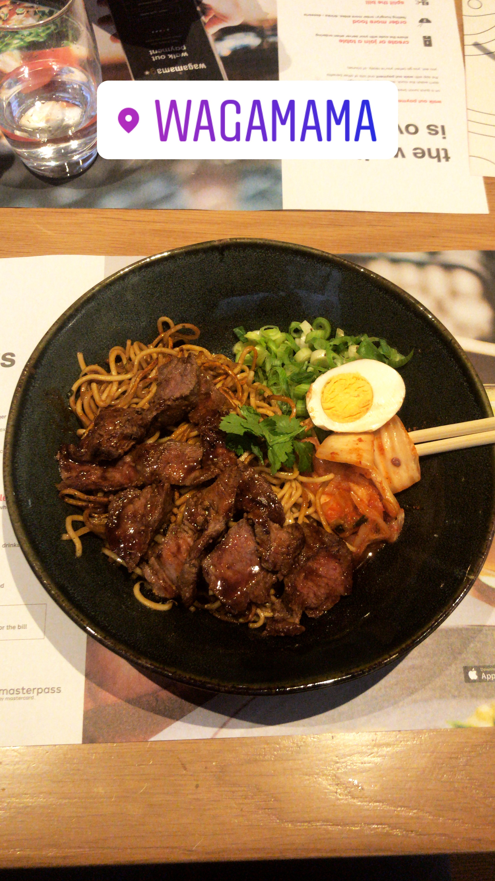 The Steak Bulgolgi is one of my favourite dishes at Wagamama!