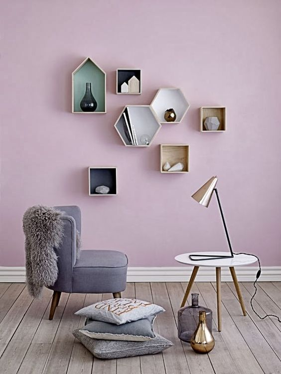 Niki Brantmark featured this gorgeous shot of Scandi inspired interiors with another similar Violet Verona shade.