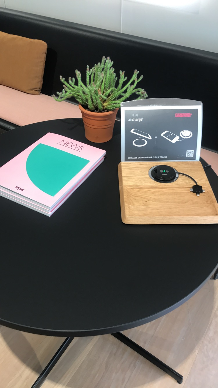 The lifesaving wireless charger would make the perfect addition to any office or business space.