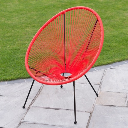 String Moon Chair - Coral  £25.00