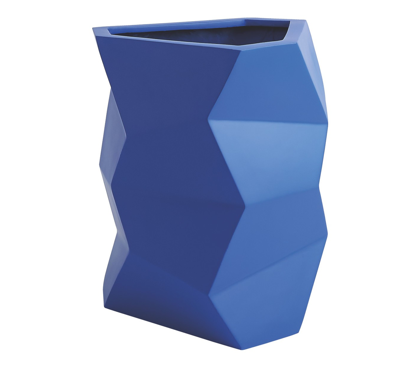 FACETED Blue Faceted Fibreglass Planter 46 X 39cm