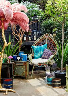 Matthew Williamson designed outdoor space
