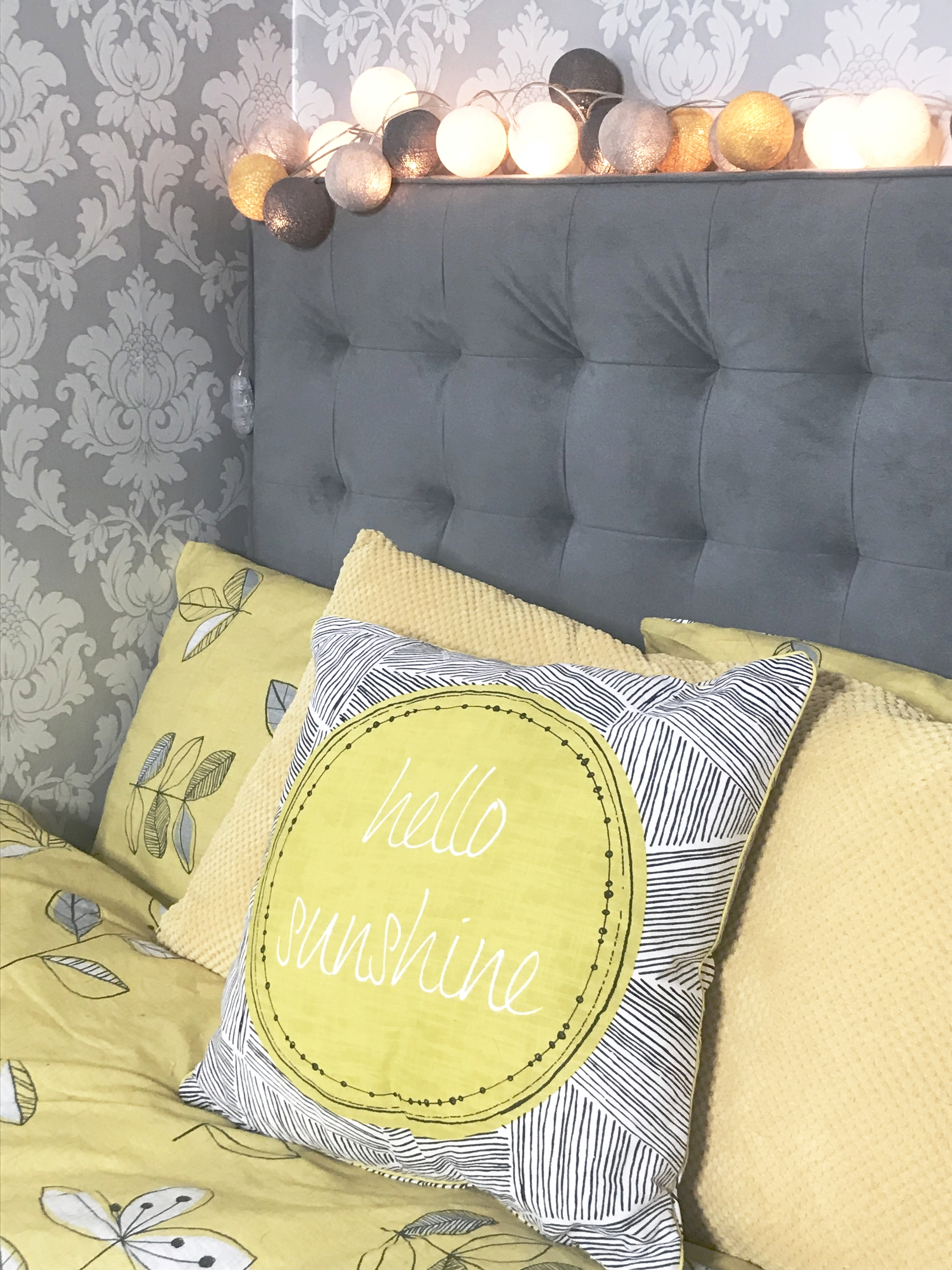 Bringing a little sunshine to my bedroom with this  Hello Sunshine pillow  from Dunelm (£9).