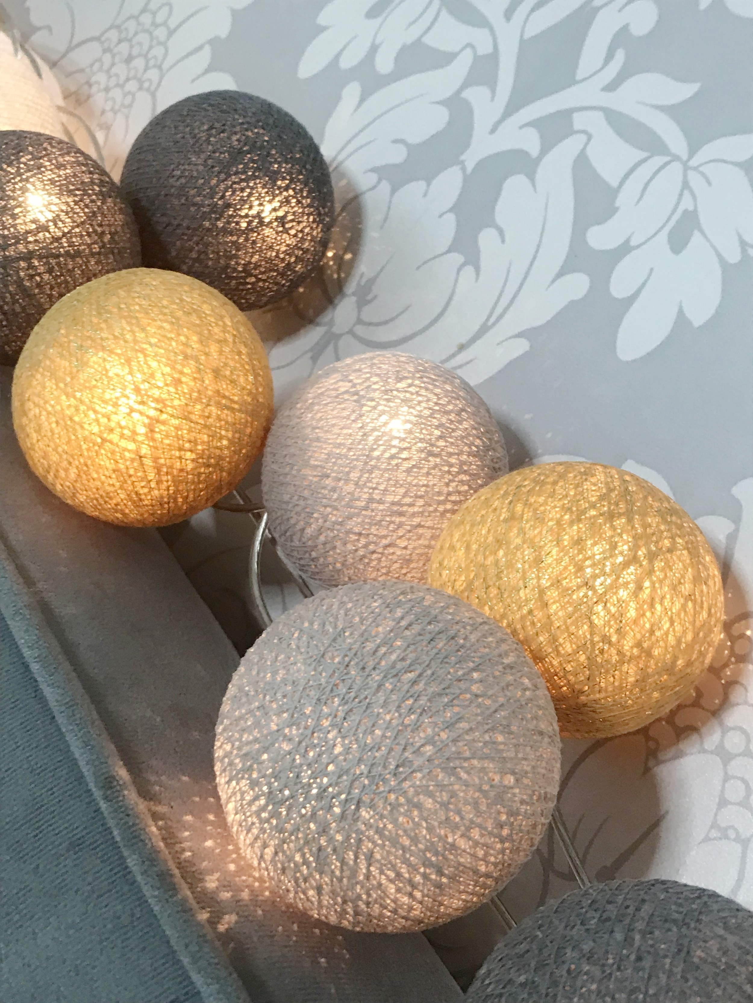 Cottonball lights are ready for the close up. Which colour combo would you create?