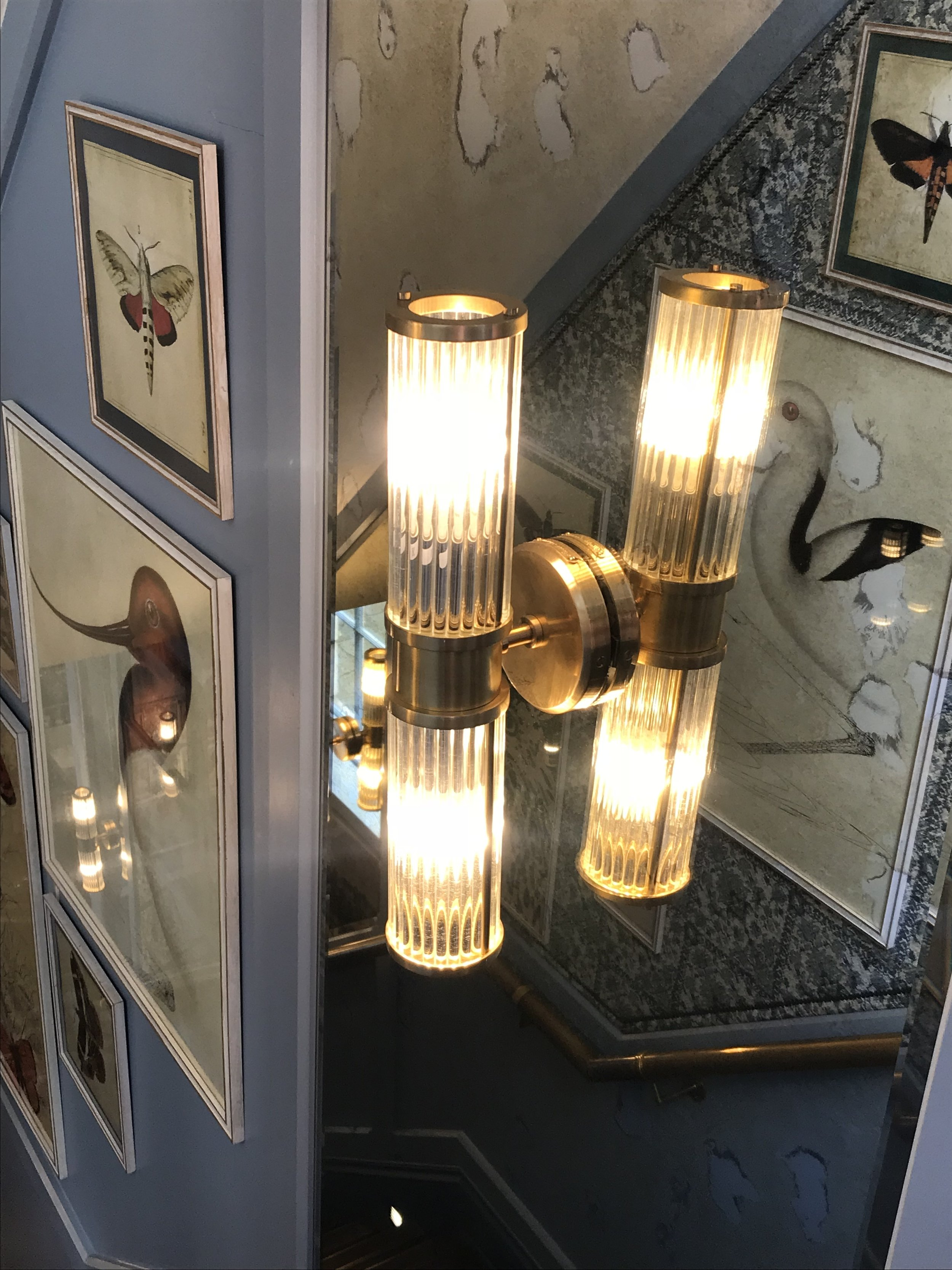 The light fixings I mentioned earlier, that would look perfect in an Art deco style bathroom, or even either side of above the bed.